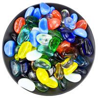 派乐特 鱼缸造景石头 混色玻璃腰果 1kg(约140颗左右) *2件