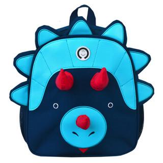 Mr.P 书包 幼儿园大班小班减负宝宝小双肩背包2-5岁 犀牛蓝色