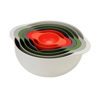 Joseph Joseph 旗下duo系列厨房烘焙创意餐具彩虹碗沥水搅拌碗套装洗果篮沥水篮大小套碗沙拉碗搅拌碗 80025