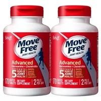 Move Free 益节 氨糖维骨力 氨糖软骨素加钙片 170粒*2瓶