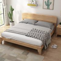 一米色彩 日式现代简约实木床 1.8米款