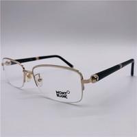 MontBlanc 万宝龙 商务时尚超轻配金属男半框眼镜架/近视架 MB535 多色可选 028 Gold Black