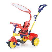 Little Tikes 小泰克 627354 儿童推车户外运动玩具 4合1多功能三轮车(红黄蓝)