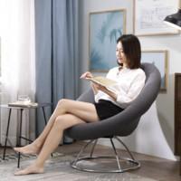 林氏木业 LS050XY1 布艺懒人贝壳沙发单椅