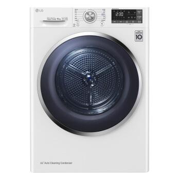 LG 乐金 RC90U2AV2W 滚筒洗衣机 9kg 白色
