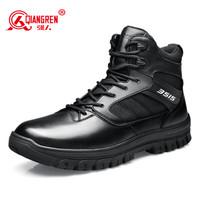 强人男靴 JD511-15C 际华三五一五羊毛保暖户外靴子低帮休闲系带款军迷棉靴子 黑色 40码