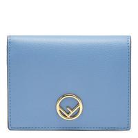 FENDI 芬迪 KAN I F女士蓝色牛皮凑型皮夹钱包 8M0387 A18B F119W