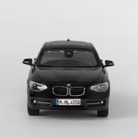 宝马/BMW 1系汽车模型 宝马车模宝马模型 比例1:18 黑色