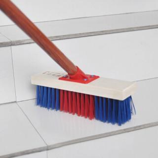 兰诗(LAUTEE)DS003 25厘米彩丝地刷 长柄硬毛清洁刷