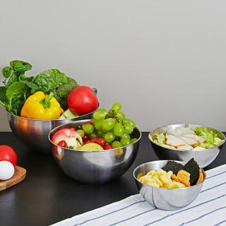 京东京造 304不锈钢加厚洗菜篮子 厨房家用洗菜洗米 四件套装