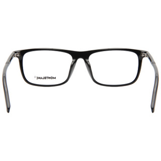MontBlanc 万宝龙 男女款黑色镜框黑色镜腿光学眼镜架眼镜框 MB 0012OA 001 54MM