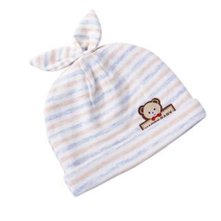 象宝宝(elepbaby)婴儿帽子秋冬0-3个月新生儿宝宝胎帽黄色