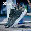 特步篮球鞋新款男子运动鞋室内中帮低帮男鞋缓震透气网面881319129017 绿 40码