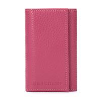LONGCHAMP 珑骧 Le Foulonné 中性系列粉红色牛皮钥匙包 3989 021 018