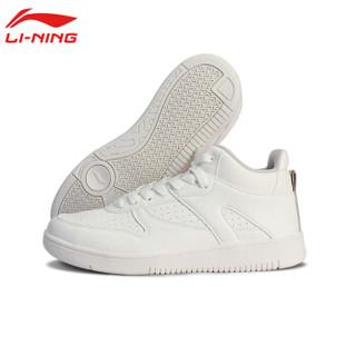 李宁运动时尚系列女经典休闲鞋 AGCP332-1 雪白色/风铃灰 39