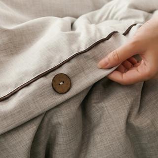 雅鹿·自由自在 被子家纺 棉麻纯色保暖羽丝绒被 双人秋冬被芯被褥棉被盖被 220*240*9.5斤 棉麻灰