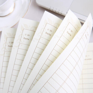晨好(ch) 家庭记账本 懒人收支账本 财务明细账 手帐 理财本子 现金日记账 四本装