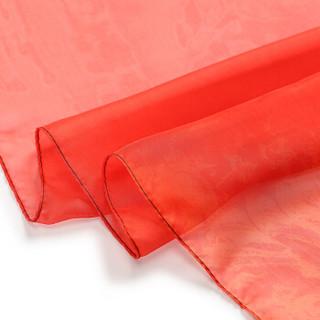 朗悦 丝巾女2019春夏新款红色民族风长款披肩薄款防晒丝巾围巾 LPSJ193202红色