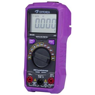 拓伏锐(TOPFORZA)DM-2203 万用表真有效值自动量程数字万用表防烧数显高精度电表万能表 3 5/6位 迷你型
