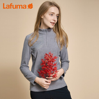 Lafuma乐飞叶 女士立领抓绒衣户外登山徒步旅行轻便保暖T恤 LFTS7DC01 珊瑚红C2 175/92A(42)
