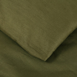 种棉人 被子家纺 透气棉花秋冬被子 保暖加厚棉胎双人被芯 150*200cm 重量4斤 军绿色