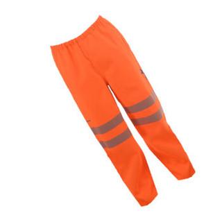 博迪嘉 BGAFR02 防电弧多功能雨裤 阻燃耐酸碱ESD防风防雨警示工作裤 荧光橘红色 2XL 1件 可定制