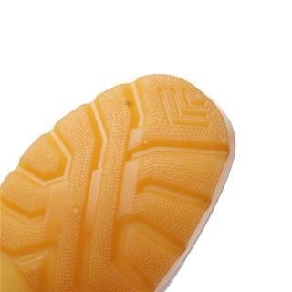者也 白色雨鞋低帮防滑食品靴中筒食堂厨师轻便雨靴高筒食品厂水鞋男女 白中筒43码