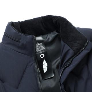 高梵 棉服男2019时尚短款立领口加绒防风棉衣棉袄外套 G219MF2701 黑色 XL