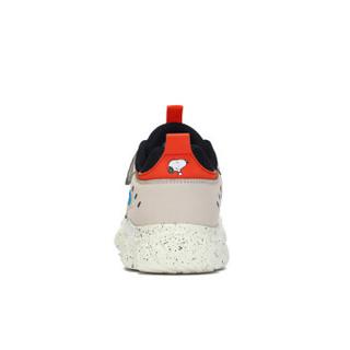 史努比(SNOOPY)童鞋男童运动鞋 中大童男孩老爹鞋潮软底 S913A2723米白27