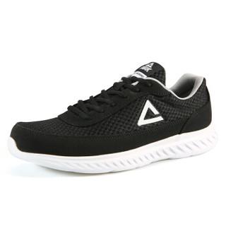 匹克(PEAK)男鞋舒适轻逸跑步鞋休闲都市运动鞋 DH810831 黑色/大白 39码