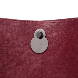 LONGCHAMP 珑骧 女士SHOP-IT系列石榴红色骑手图案皮革手提单肩包 1326 918 209