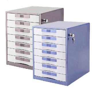 得力 9702 五层金属外壳文件柜(闪银棕)
