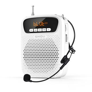 十度(ShiDu)SD-S278 15瓦蓝牙小蜜蜂扩音器教师用户外便携式迷你导游老师专用话筒喇叭上课宝扬声器 月光白