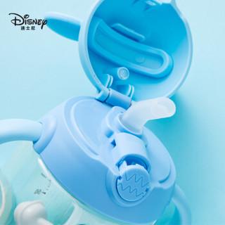 迪士尼(Disney)宝宝学饮杯婴儿吸管杯水杯带手柄儿童小孩婴儿喝奶喝水杯350ml PPSU材质 HM3282M1