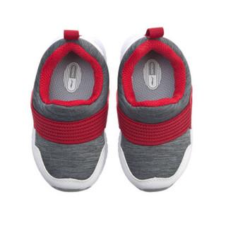 李宁官方旗舰店童鞋婴儿学步鞋男女童舒适一脚蹬儿童运动鞋豆包鞋 YKHP016-1 凝雪灰/深铁灰/标准白 22