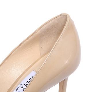 JIMMY CHOO 周仰杰 女士ROMY 85系列奶咖色漆皮尖头高跟鞋 ROMY 85 PAT 247 NUDE 8/38