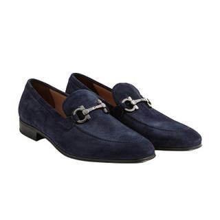 Salvatore Ferragamo 菲拉格慕 男士蓝色牛皮革便鞋 0694888_3E _ 85