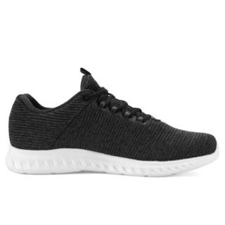 匹克(PEAK)男鞋跑步鞋减震耐磨轻便舒适休闲轻逸男跑鞋运动鞋 DH830007 黑色/深灰 45码