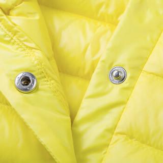 贝贝怡冬季0-6岁男女宝宝加厚夹棉羽绒服套装144T014 柠檬黄 6个月/身高66cm