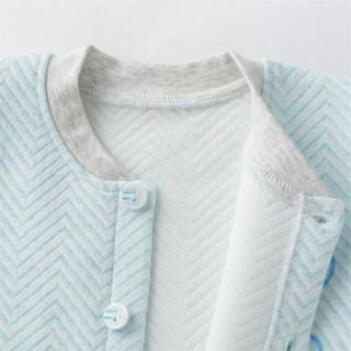 迪士尼(Disney)童装 男童套装冬季新品卡通保暖家居服三层暖棉可开档184T849浅蓝9个月/身高73cm