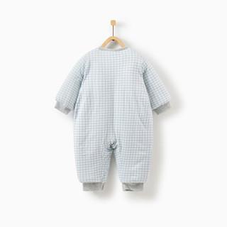 童泰冬季婴儿衣服加厚外出服新生儿棉服连体衣 T94D1507 蓝色 80