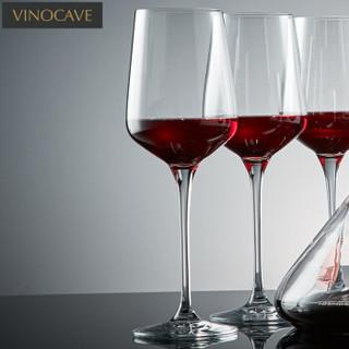 维诺卡夫 (Vinocave) 无铅水晶玻璃红酒杯瀑布醒酒器酒具套装 450ml杯子*6+1500ml醒酒器