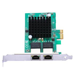 szllwl 82575-1X-1  双口千兆网卡intel82575芯片软路由ROS汇聚服务器PCI-eX1网卡