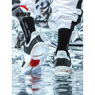 安踏 ANTA官方旗舰 91915500 男鞋跑步鞋SEEED全掌气垫启航跑鞋休闲气垫跑鞋 安踏白/黑/大学红-1 8(男41)