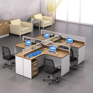奈高职员办公桌屏风办公桌简约隔断员工位电脑桌工作卡位T字型2人位