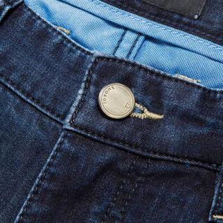 九牧王(JOEONE)休闲时尚百搭直筒牛仔裤商务舒适旅行JJ172131T深色洗水94