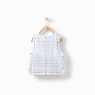 童泰秋冬夹棉衣服婴儿马甲3-18个月男女宝宝棉背心T93D1171 蓝色 73
