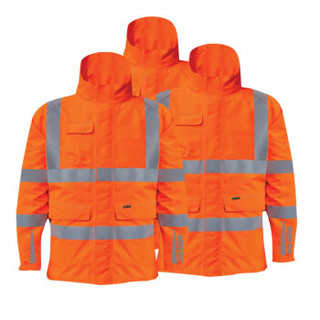博迪嘉 GN900 Gore-tex外套 耐用防水透气防风反光雨衣 荧光橘红色 S 1件 可定制