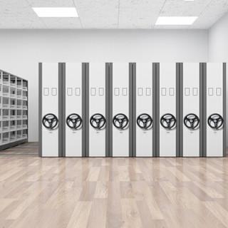 富路达 密集架档案室移动密集柜档案架咖啡色每列8组