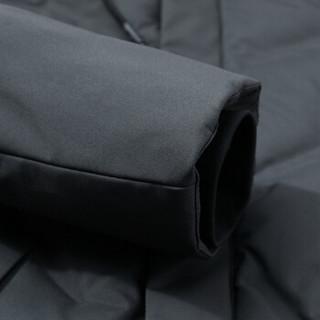 鸭鸭(YAYA)棉服男2019冬季新款潮流时尚青春休闲加厚保暖连帽大衣外套GSMF2717 青灰 4XL